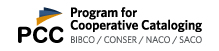 Program for Cooperative Cataloging Logo